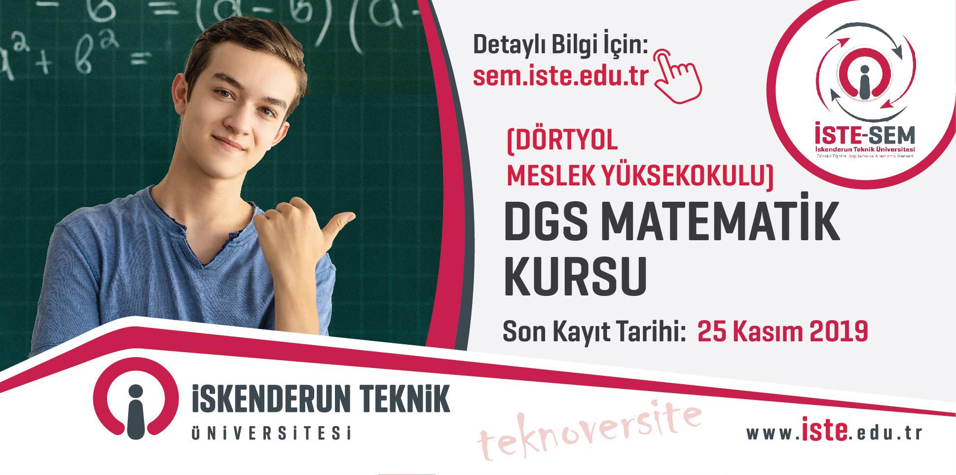 Dikey Geçiş Sınavı (DGS) Matematik Kursu (Dörtyol Meslek Yüksekokulu)
