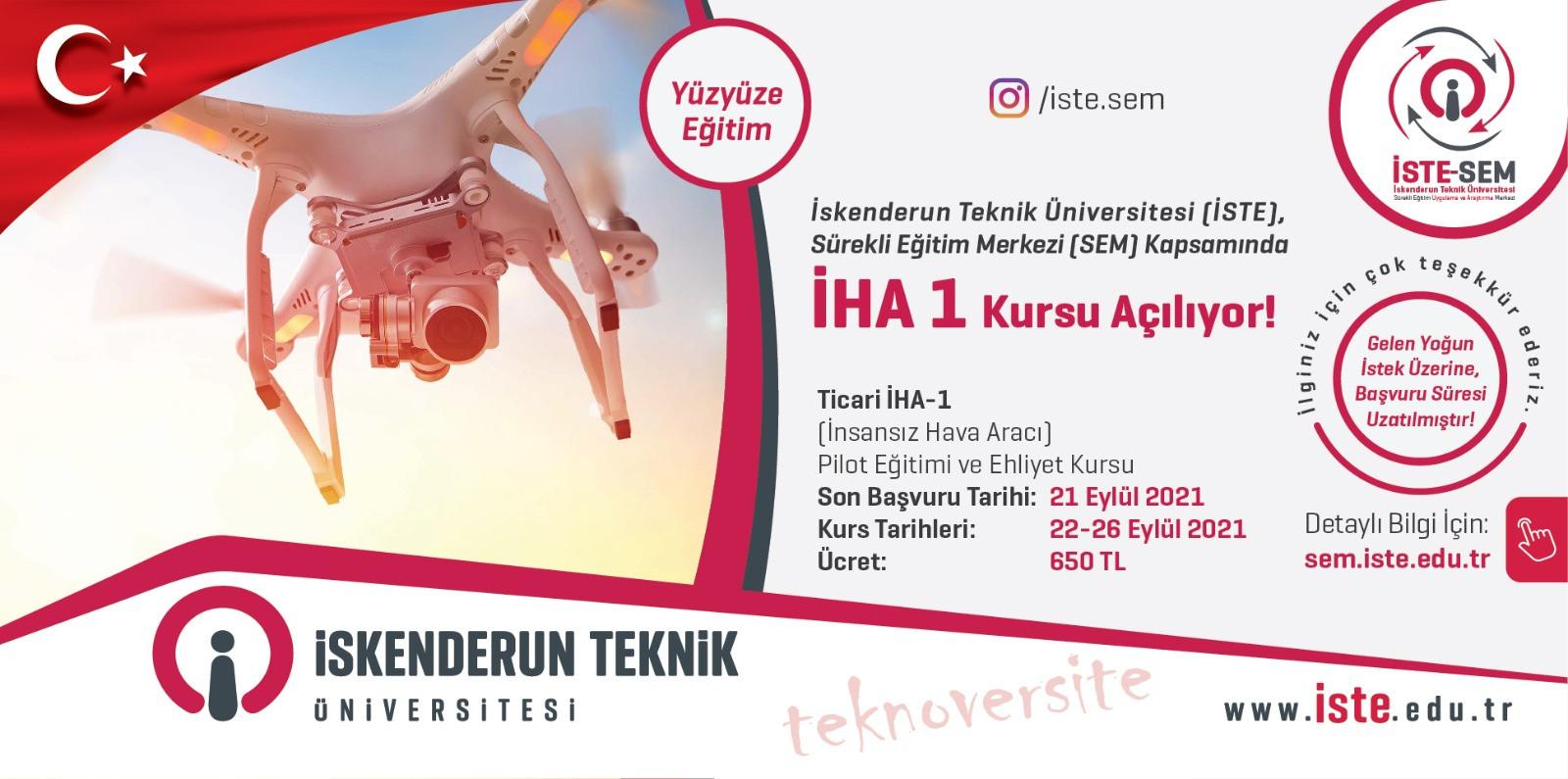 İHA1 Pilot Eğitimi ve Ehliyet Kursu